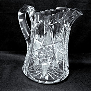 Heavy ABP Cut Glass Pitcher