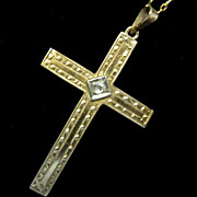 1930s 10K Gold Cross Pendant