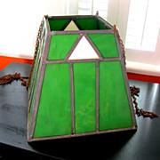 SOLD Arts & Crafts Billiard Table Lamp Shade