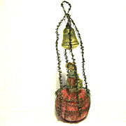 SOLD 1890 Victorian Unsilvered Glass Ornament, Scrap, Tinsel