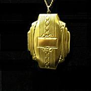 Vintage Art Deco Gold- Filled Locket