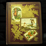 SOLD Filled 43-Page Victorian Scrapbook, 1876, Outstanding