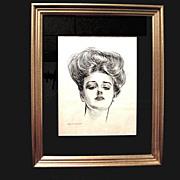1903 Charles Dana Gibson Girl Portrait, Collier's Weekly
