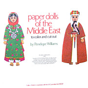 1978 UNICEF Storycraft Book, Paper Dolls of the Middle East