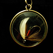 SOLD Victorian Watch Fob/Pendant, Tied Fishing Fly