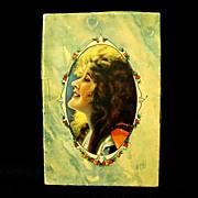 Unused White Linen Hankies, Original Pretty Lady Box