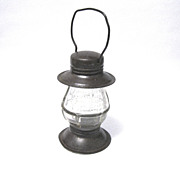 SOLD 1922 Victory Glass Lantern Candy Container, Jeanette, PA
