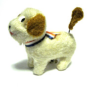Japanese Wind-up Toy Dog Moves, Tail Wags