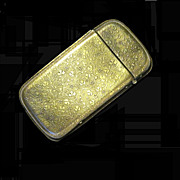 Old Brass Vesta Case, Pocket Match Safe