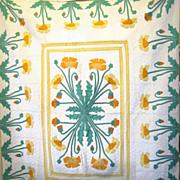 SOLD 1930s Popular 'Poppy' Quilt, a Marie Webster Design