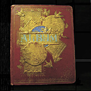 SOLD Dated 1876 Victorian Scrapbook, Great Condition