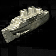 Vintage Pewter Ice Cream Battleship Mold #612