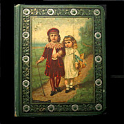 SOLD Dated 1883 Victorian Scrapbook Filled, Fashions, Trade Cards