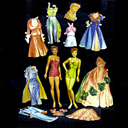 Original Merrill Esther Williams Paper Dolls, Cut Clothing