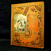 Mid-1880s Victorian Scrapbook with Trade Cards, Ad Booklet