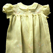 Embroidered Vintage Party Dress for Tot or Large Doll