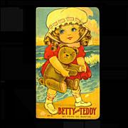 'Betty and Teddy' by Penn de Barthe, 1916 Stecher Litho Book About a Teddy Bear