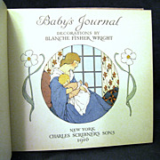 Rare 1916 'Baby's Journal', Blanche Fisher Wright, Charles Scribner's Sons
