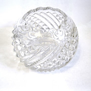 Scarce EAPG Rose Bowl 'Diamond Swirl', US Glass, 1895
