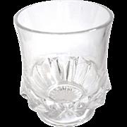 EAPG Sugar Bowl or Buttermilk, 'Zipper Slash', Geo. Duncan