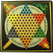 SOLD 1938 Chinese Checker Game Board, Gotham Pressed Steel Corp