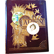 Dated 1876 Victorian Scrapbook, Trade Cards and More