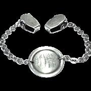 Sterling Silver Monogrammed Glove Holder/Clips