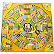 "Parker Bros. 1921 Game Board, ""Polly Pickles, The Great Movie Game"""