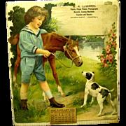 SALE PENDING Large Heavily Embossed Die Cut German Calendar, 1926