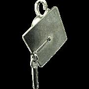 Vintage Sterling Graduation Cap or Mortar Board Charm