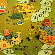 "1938 Game Board, ""Jack and Jill (or Who Brought the Water)', Lang Campbell Illustrations"