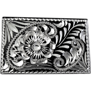 1900 Brite Cut Design on Black Japanned Match Box Holder