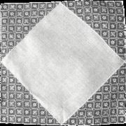 White Vintage Wedding Handkerchief, Embroidered Net Decoration