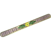 1907 Romantic Lavender Guilloche Enamel, Sterling Bar Pin