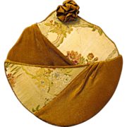 Large Hand Made Victorian Fabric Wall Pocket