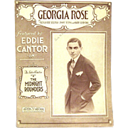"""Georgia Rose"", 1921 Sheet Music Features Eddie Cantor on Cover"