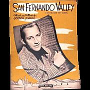 "1943 Sheet Music ""San Fernando Valley"" Features Crooner Bing Crosby"