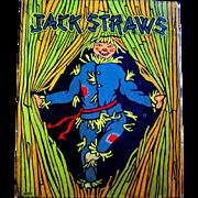 JACK STRAWS, MIlton Bradley Game, Colorful Scarecrow Lid