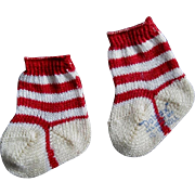 Miniature Striped Socks for Kitty or Dolly