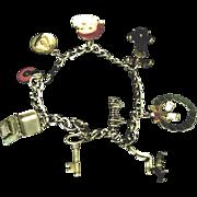 Secretary's Vintage Sterling Silver Charm Bracelet