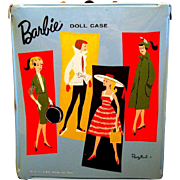 1961 BARBIE Blue Carrying Case by Ponytail