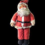 Large Vintage Masked Face Standing Store Display Santa