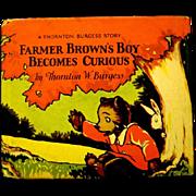 """Farmer Brown's Boy Becomes Curious"", a Cubby Bear Book by Thornton Burgess, 1927"