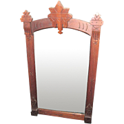 Antique Eastlake Walnut Framed Mirror