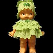 1950 Irwin St. Patrick's Day Leprechaun Doll in Crepe Paper Dress