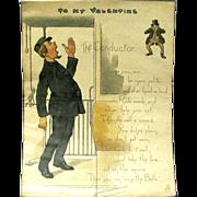 "1902 Tuck Comic Valentine, ""The Conductor"""