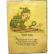 "1920s Comic Valentine, ""The Tight Wad"""