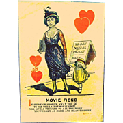 "1920's Comic Valentine, "" Movie Fiend"", Insulting Penny Dreadful"""