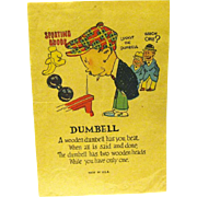 "Vintage Comic Valentine, ""Dumbell"", Penny Dreadful"