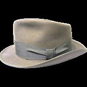 SALE PENDING 1950s Beaver Brand Gray Fur Felt Fedora
